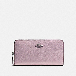 COACH F58059 - ACCORDION ZIP WALLET ICE PURPLE/SILVER