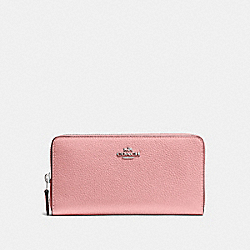 COACH F58059 Accordion Zip Wallet PEONY/SILVER