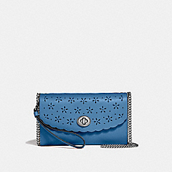 COACH F58072 Chain Crossbody SKY BLUE/MIDNIGHT/SILVER