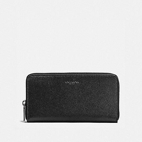 COACH f58107 ACCORDION WALLET IN CROSSGRAIN LEATHER BLACK