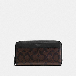 COACH F58112 Accordion Wallet In Signature MAHOGANY/BROWN