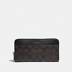 COACH F58112 Accordion Wallet In Signature Canvas MAHOGANY/BLACK/BLACK ANTIQUE NICKEL