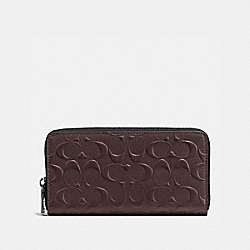 ACCORDION WALLET - f58113 - MAHOGANY