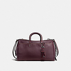COACH ROGUE SATCHEL 36 IN GLOVETANNED PEBBLE LEATHER - BLACK COPPER/OXBLOOD - F58119