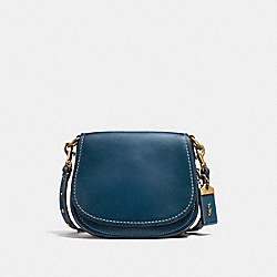 COACH F58120 Saddle 17 DARK DENIM/OLD BRASS