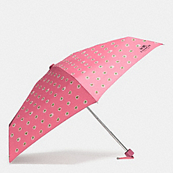 COACH F58133 - MINI UMBRELLA IN CHERRIES PRINT SILVER/STRAWBERRY