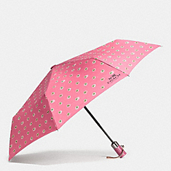 COACH F58139 - UMBRELLA IN CHERRIES PRINT SILVER/STRAWBERRY