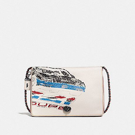 COACH F58152 DINKY 32 WITH CAR CHALK/BLACK COPPER