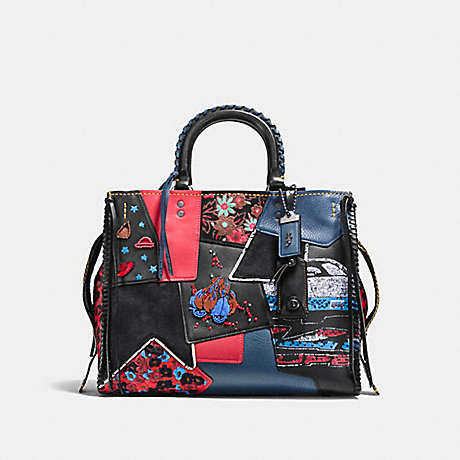 COACH F58159 ROGUE WITH EMBELLISHED PATCHWORK BP/1941-RED-MULTI