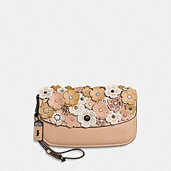 CLUTCH WITH TEA ROSE - F58181 - BEECHWOOD/BLACK COPPER