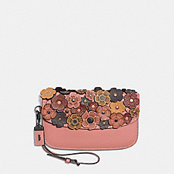 COACH F58181 Clutch With Tea Rose MELON/BLACK COPPER