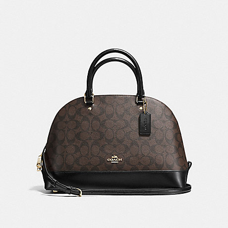 COACH f58287 SIERRA SATCHEL IN SIGNATURE IMITATION GOLD/BROWN/BLACK