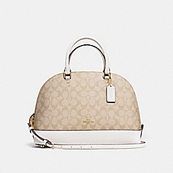 COACH SIERRA SATCHEL - LIGHT KHAKI/CHALK/LIGHT GOLD - F58287