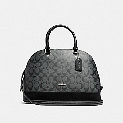 COACH F58287 Sierra Satchel SILVER/BLACK SMOKE
