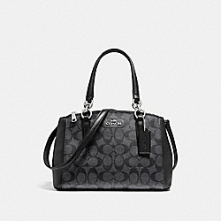 MINI CHRISTIE CARRYALL - f58290 - SILVER/BLACK SMOKE