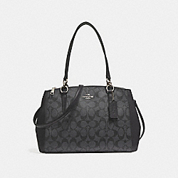 SMALL CHRISTIE CARRYALL - f58291 - SILVER/BLACK SMOKE