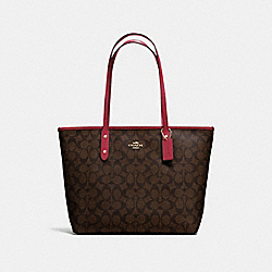 COACH F58292 City Zip Tote In Signature Canvas IMNM4