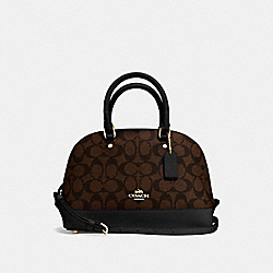 MINI SIERRA SATCHEL - f58295 - BROWN/BLACK/IMITATION GOLD