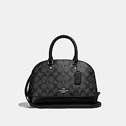 COACH MINI SIERRA SATCHEL - BLACK SMOKE/BLACK/SILVER - F58295