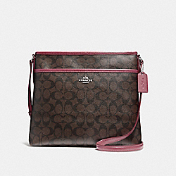 COACH F58297 - FILE BAG LIGHT GOLD/BROWN ROUGE