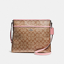COACH F58297 File Bag SILVER/KHAKI BLUSH 2