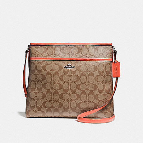 98543a6b1b COACH F58297 - FILE BAG IN SIGNATURE CANVAS - KHAKI ORANGE RED ...