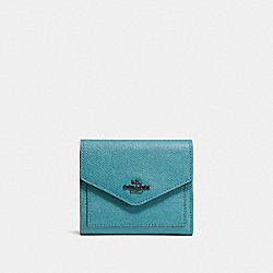 COACH F58298 - SMALL WALLET OCEAN/DARK GUNMETAL