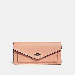 COACH F58299 - TRIFOLD WALLET DARK BLUSH/DARK GUNMETAL
