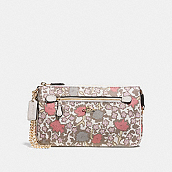 COACH F58302 Nolita Wristlet 24 In Yankee Floral Print Coated Canavas LIGHT GOLD/BEECHWOOD YANKEE FLORAL