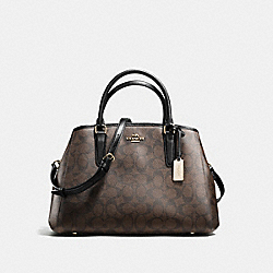 SMALL MARGOT CARRYALL IN SIGNATURE - f58310 - IMITATION GOLD/BROWN/BLACK