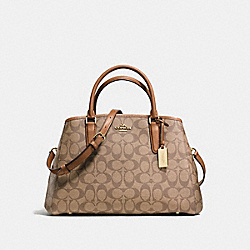 SMALL MARGOT CARRYALL IN SIGNATURE - f58310 - IMITATION GOLD/KHAKI/SADDLE