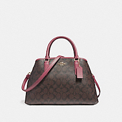COACH F58310 Small Margot Carryall LIGHT GOLD/BROWN ROUGE