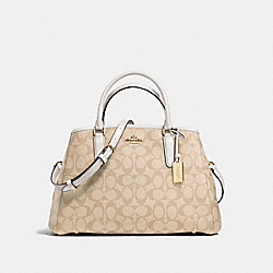 SMALL MARGOT CARRYALL IN SIGNATURE - f58310 - IMITATION GOLD/LIGHT KHAKI/CHALK