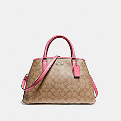 COACH F58310 - SMALL MARGOT CARRYALL SILVER/KHAKI/MAGENTA