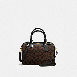MINI BENNETT SATCHEL - f58312 - BROWN/BLACK/IMITATION GOLD