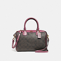 MINI BENNETT SATCHEL - f58312 - LIGHT GOLD/BROWN ROUGE
