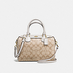 MINI BENNETT SATCHEL - f58312 - IMITATION GOLD/LIGHT KHAKI