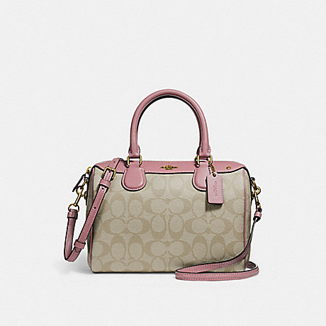 COACH f58312 MINI BENNETT SATCHEL light khaki/vintage pink/imitation gold