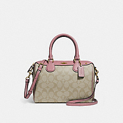 MINI BENNETT SATCHEL - f58312 - light khaki/vintage pink/imitation gold
