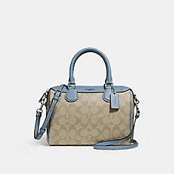 COACH MINI BENNETT SATCHEL - LIGHT KHAKI/POOL/SILVER - F58312