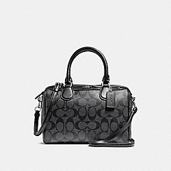 MINI BENNETT SATCHEL - COACH f58312 - SILVER/BLACK SMOKE