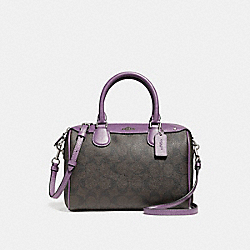 MINI BENNETT SATCHEL - f58312 - SILVER/BROWN