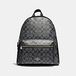 COACH F58314 - CHARLIE BACKPACK SILVER/BLACK SMOKE
