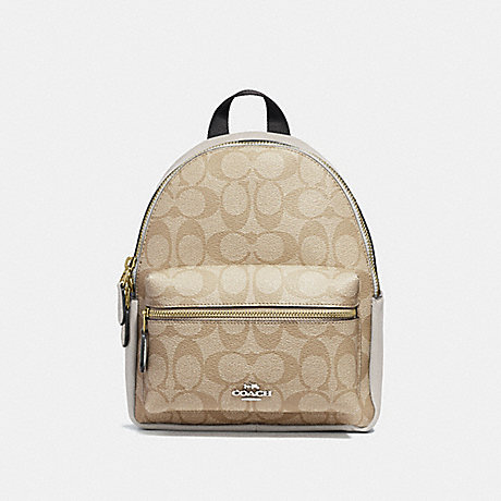COACH f58315 MINI CHARLIE BACKPACK LIGHT KHAKI/CHALK/LIGHT GOLD