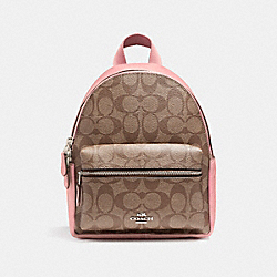 COACH F58315 - MINI CHARLIE BACKPACK SILVER/KHAKI BLUSH 2