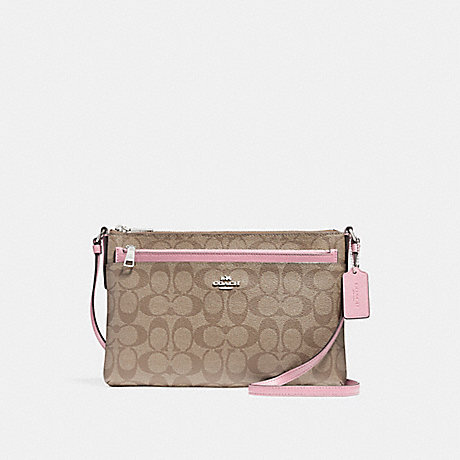 COACH f58316 EAST/WEST CROSSBODY WITH POP-UP POUCH<br>蔻驰EAST/WEST论与弹袋 银色腮红2