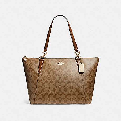 COACH f58318 AVA TOTE LIGHT GOLD/KHAKI