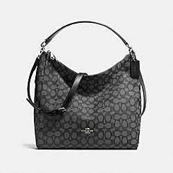 COACH F58327 Celeste Convertible Hobo In Outline Signature SILVER/BLACK SMOKE/BLACK