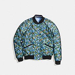COACH F58339 Reversible Floral Varsity Jacket BLUE JEAN BLUE MULTI