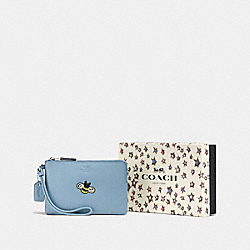 COACH F58365 Boxed Small Wristlet SV/CORNFLOWER